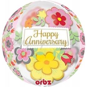 ΜΠΑΛΟΝΙ FOIL 38cm «Happy Anniversary» ORBZ - ΚΩΔ.:530687-BB