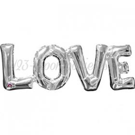 ΜΠΑΛΟΝΙ FOIL 66x22cm SUPER SHAPE «Love» ΑΣΗΜΙ ΕΝΝΩΜΕΝΗ ΦΡΑΣΗ  - ΚΩΔ.:533101-BB