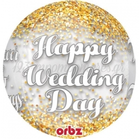 ΜΠΑΛΟΝΙ FOIL 40cm «Happy Wedding Day» ORBZ - ΚΩΔ.:535193-BB