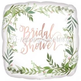 ΜΠΑΛΟΝΙ FOIL 45cm «Bridal Shower» ΜΕ ΦΥΛΛΑ - ΚΩΔ.:538518-BB