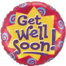 ΜΠΑΛΟΝΙ FOIL 45cm «Get Well Soon» ΑΣΤΕΡΙ  – ΚΩΔ.:60867-BB