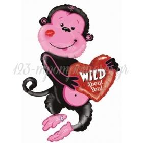 ΜΠΑΛΟΝΙ FOIL 117x60cm SUPER SHAPE ΜΑΙΜΟΥ «Wild About You» - ΚΩΔ.:85293-BB
