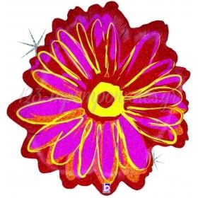 Μπαλονι Foil 58Cm Super Shape Holographic Βιολετι Ροζ Λουλουδι – ΚΩΔ.:85524-Bb