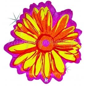 Μπαλονι Foil 58Cm Super Shape Holographic Κιτρινο Λουλουδι – ΚΩΔ.:85525-Bb