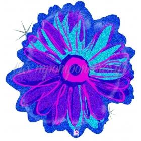 Μπαλονι Foil 58Cm Super Shape Holographic Βιολετι Μπλε Λουλουδι – ΚΩΔ.:85526-Bb
