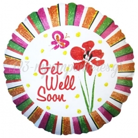 ΜΠΑΛΟΝΙ FOIL 45cm «Get Well Soon» ΙΡΙΔΙΖΟΝ – ΚΩΔ.:86600-BB