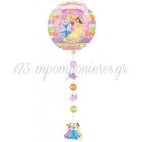 Μπαλονι Foil 91Cm Πριγκιπισσες Disney «Happy Birthday» Με Κορδελα Και Κοπτικα – ΚΩΔ.:11149-Bb