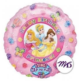 Μουσικο Μπαλονι Foil 91Cm Πριγκιπισσες Disney «Happy Birthday» – ΚΩΔ.:12651-Bb