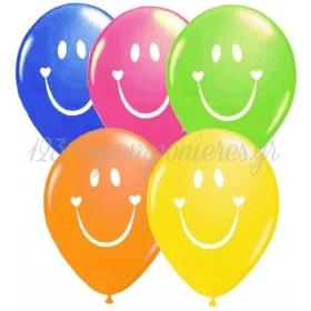 """ΤΥΠΩΜΕΝΑ ΜΠΑΛΟΝΙΑ LATEX SMILE FACE ΣΕ ΔΥΟ 5 ΧΡΩΜΑΤΑ12"""" (30cm) – ΚΩΔ.:13512418-BB"""