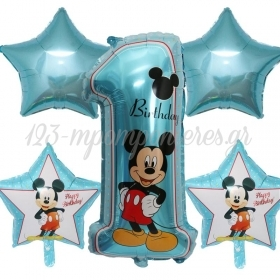 FOIL 86cm MICKEY MOUSE «1st Birthday» ΣΕΤ– ΚΩΔ.:207176-BB