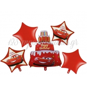 ΜΠΑΛΟΝΙ FOIL SET «Happy Birthday» CARS DISNEY – ΚΩΔ.:207178-BB