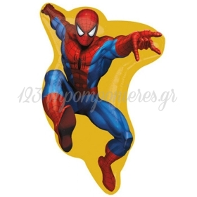 ΜΠΑΛΟΝΙ FOIL 67x38cm SUPER SHAPE SPIDERMAN STREET - ΚΩΔ.:24770-BB