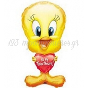 ΜΠΑΛΟΝΙ FOIL 78cm SUPER SHAPE TWEETY «Be My Tweerheart»- ΚΩΔ.:506014-BB