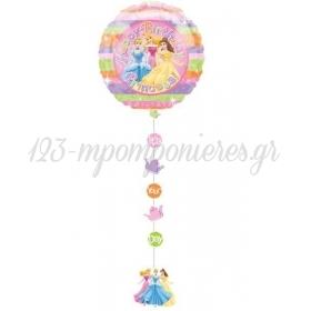 Μπαλονι Foil 137X61Cm Πριγκιπισσες Disney «Happy Birthday» Με Κορδελα Και Κοπτικα – ΚΩΔ.:511149-Bb