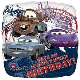ΜΠΑΛΟΝΙ FOIL 45cm CARS DISNEY ΤΕΤΡΑΓΩΝΟ «Happy Birthday» – ΚΩΔ:522310-BB