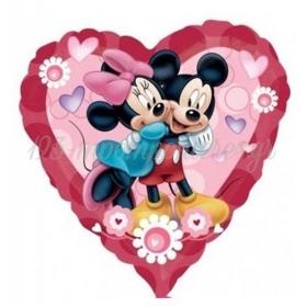Μπαλονι Foil 81Cm Καρδια Mickey Mouse & Minnie Mouse – ΚΩΔ.:523044-Bb