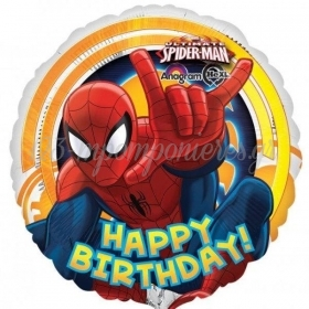 ΜΠΑΛΟΝΙ FOIL 45cm SPIDERMAN «Happy Birthday» - ΚΩΔ.:526337-BB