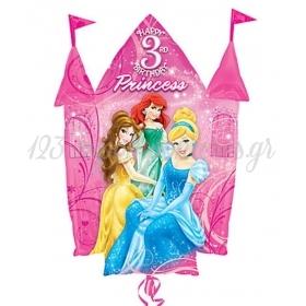Μπαλονι Foil 89Cm Super Shape Καστρο «Happy 3Rd Birthday» – ΚΩΔ.:526362-Bb