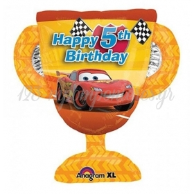 ΜΠΑΛΟΝΙ FOIL 66x69cm SUPER SHAPE CARS ΚΥΠΕΛΛΟ «Happy 5th Birthday» – ΚΩΔ.:526391-BB