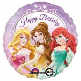 Μπαλονι Foil 45Cm Disney Πριγκιπισσες «Happy Birthday»– ΚΩΔ.:526400-Bb