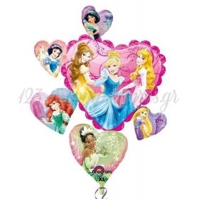 Μπαλονι Foil 86X71Cm Super Shape Καρδια Με Πριγκιπισσες Disney – ΚΩΔ.:526406-Bb