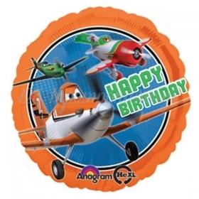 ΜΠΑΛΟΝΙ FOIL 45cm ΑΕΡΟΠΛΑΝΑ DISNEY «Happy Birthday»– ΚΩΔ:527414-BB