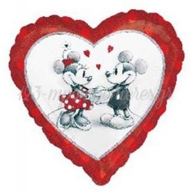 Μπαλονι Foil 45Cm Καρδια Mickey & Minnie Ερωτευμενοι – ΚΩΔ.:528040-Bb