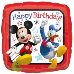 Μπαλονι Foil 45Cm Mickey & Donald «Happy Birthday» – ΚΩΔ.:536225-Bb
