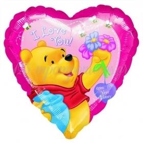 ΜΠΑΛΟΝΙ FOIL 45cm ΚΑΡΔΙΑ WINNIE THE POOH «I Love You» -ΚΩΔ.:81189-BB