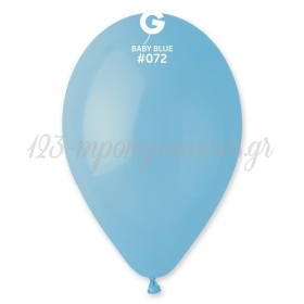 BABY BLUE ΜΠΑΛΟΝΙΑ  9΄΄ (25cm)  LATEX – ΚΩΔ.:1360972-BB