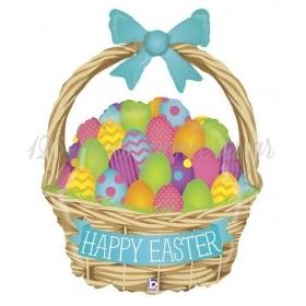 Μπαλονι Foil 99Cm Supershape Πασχαλινο Καλαθι «Happy Easter» – ΚΩΔ.:35223-Bb