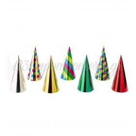Μεγαλα Καπελα Παρτυ Σε Μεταλλικα Χρωματα - ΚΩΔ:3565-Bb