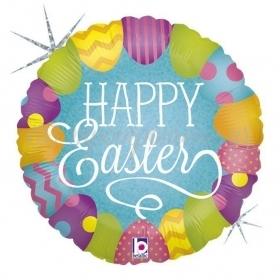 Μπαλονι Foil Κυνηγι Πασχαλινων Αυγων «Happy Easter» Με Γκλιτερ 18'' – ΚΩΔ.:36223H-Bb