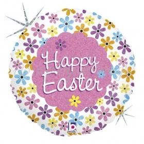 Μπαλονι Foil Κυνηγι Πασχαλινα Λουλουδια Με Γκλιτερ 18'' – ΚΩΔ.:86723H-Bb