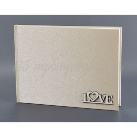 ΒΙΒΛΙΟ ΕΥΧΩΝ ΜΕ ΞΥΛΙΝΟ ΔΙΑΚΟΣΜΗΤΙΚΟ LOVE - ΚΩΔ:EYG768-2-G