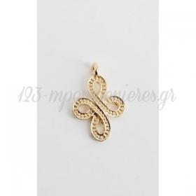 Χρυσο Μεταλλικο Σταυρουδακι Αναγλυφο - ΚΩΔ:M46-Rn