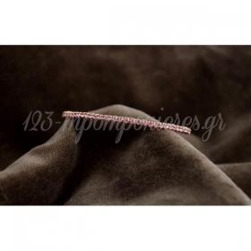 Ροζ Στρας Σε Χρυσο Ελαστικο Βραχιολι - ΚΩΔ:Mar21-Rn