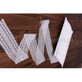 Κορδελα Δαντελα - Λευκο - 5.5Cmχ22.86Μ - ΚΩΔ:2520963-10-Rd