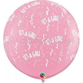 «It's a Girl» ΜΕ ΚΟΝΦΕΤΙ ΜΠΑΛΟΝΙ 36'' (90cm) LATEX – ΚΩΔ.:29166-BB
