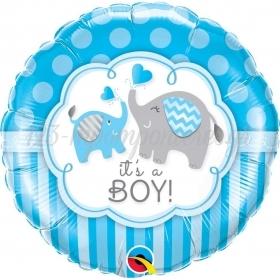ΜΠΑΛΟΝΙ FOIL 45cm «Baby Boy» ΕΛΕΦΑΝΤΑΚΙΑ – ΚΩΔ.:45109-BB