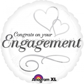 ΜΠΑΛΟΝΙ FOIL 45cm «Congrats On Your Engagement» – ΚΩΔ.:524548-BB