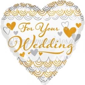 ΜΠΑΛΟΝΙ FOIL 45cm «For Your Wedding» ΚΑΡΔΙΑ – ΚΩΔ.:535191-BB
