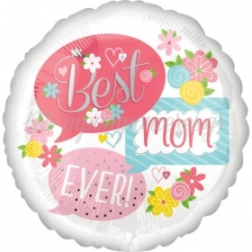 ΜΠΑΛΟΝΙ FOIL 45cm «Best Mom Ever» ΜΕ ΛΟΥΛΟΥΔΙΑ – ΚΩΔ.:537061-BB
