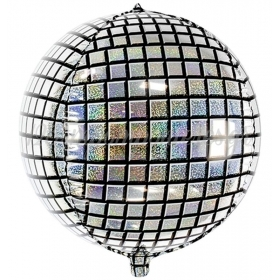 ΜΠΑΛΟΝΙ FOIL 40cm DISCO BALL ΜΕ ΓΚΛΙΤΕΡ – ΚΩΔ.:FB36-BB