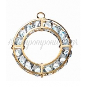 Μεταλλικο Στεφανι Με Διαμαντακια Χρυσο - ΚΩΔ:120-8911-Mpu