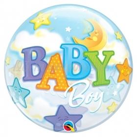 """ΜΠΑΛΟΝΙ FOIL 22""""(56cm) BABY BOY Bubble – ΚΩΔ.:23597-BB"""