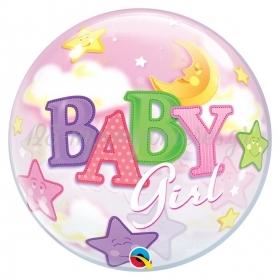 """ΜΠΑΛΟΝΙ FOIL 22""""(56cm) BABY GIRL Bubble – ΚΩΔ.:23598-BB"""