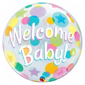 "ΜΠΑΛΟΝΙ FOIL 22""(56cm) WELCOME BABY Bubble – ΚΩΔ.:25860-BB"