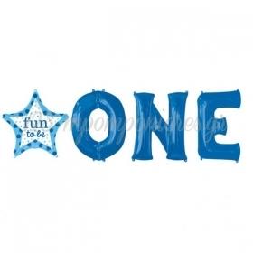 ΜΠΑΛΟΝΙ FOIL 226cm SUPER SHAPE «Fun To Be One» ΓΙΑ ΑΓΟΡΙ – ΚΩΔ.:532545-BB