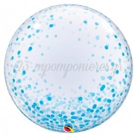 """ΜΠΑΛΟΝΙ FOIL 24""""(61cm) ΜΠΛΕ ΚΟΝΦΕΤΙ DECO Bubble – ΚΩΔ.:57789-BB"""